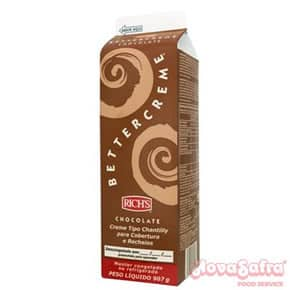 Chantilly Bettercreme Chocolate Rich's 907 Gramas