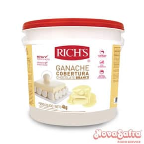 Ganache de Chocolate Branco Richs 4 Kg