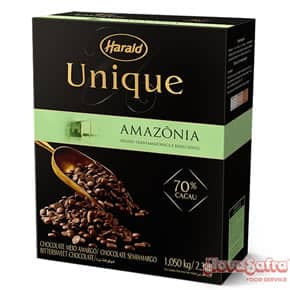 Chocolate Amargo em Gotas 70% Cacau Harald Unique 1,05 kg