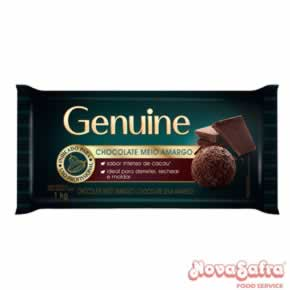 Chocolate Meio Amargo Genuine Cargill 1 Kg
