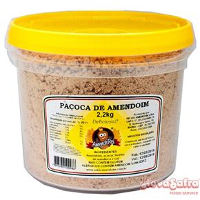 Paçoca de Amendoim balde Amendorei 2,2 kg