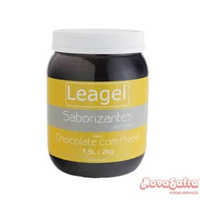 Base Para Sorvete Em Pasta Sabor Chocolate Com Avelã Leagel 2 Kg