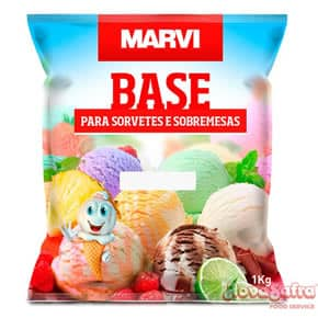 Base Para Sorvete Bombom Marvi 1 Kg